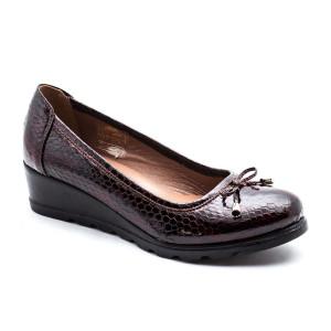 Pantofi dama Prego Bordeaux Lac Croco
