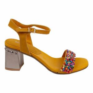 Sandale dama Kordel Roma 1 Galben