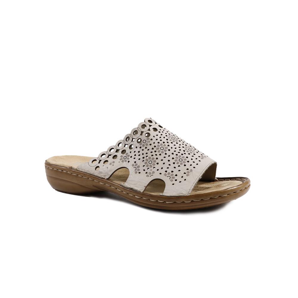 Papuci dama RIEKER 608K6-60 Crem