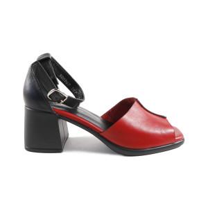 Sandale dama MYM 500067 Rosu cu Negru