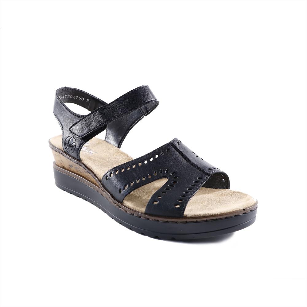 Sandale dama Rieker V38C6-00 Negre