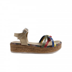 Sandale dama DONNA STYLE 0667 Bej Combinat