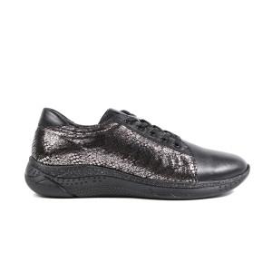 Pantofi dama JSCARPE 3075N Negru Argintiu