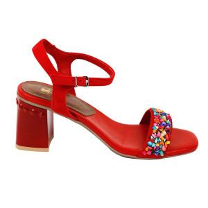 Sandale dama Kordel ROMA-1 Rosu