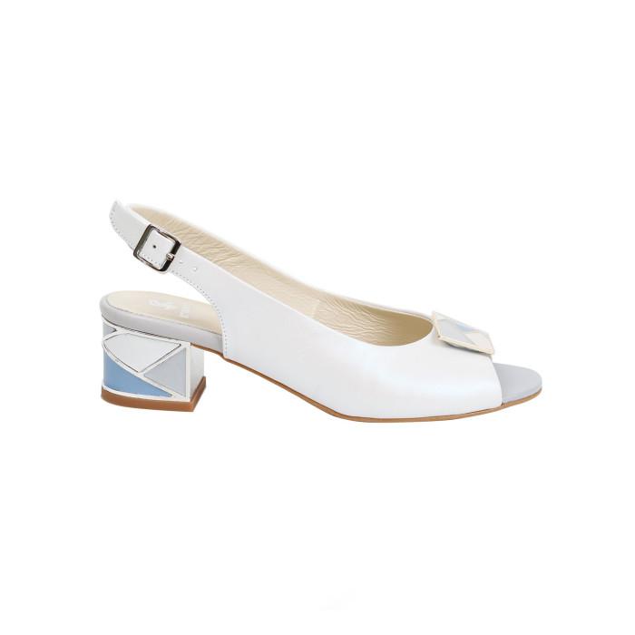 Sandale dama Kordel Sonia-1 Alb