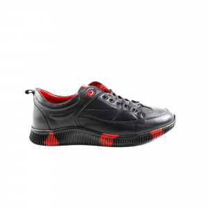 Pantofi barbati Gitanos 9402 Negru cu Rosu