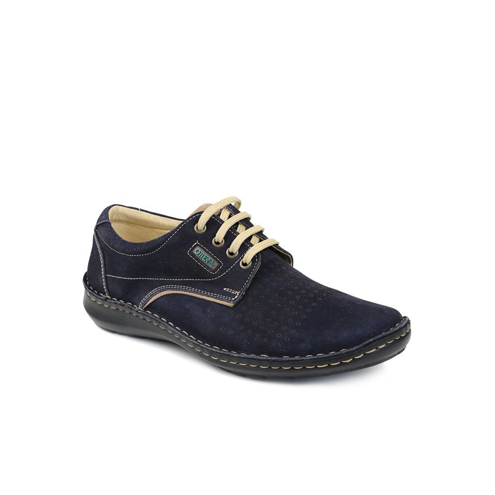 Pantofi barbati OTTER Albastri Velur