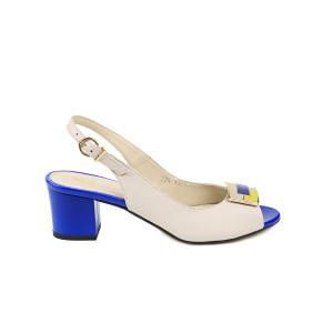 Sandale dama KORDEL Crem cu Albastru