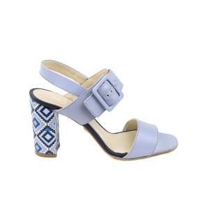 Sandale dama KORDEL Albastru cu lila