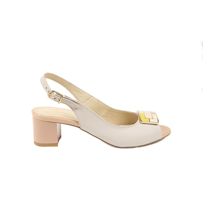 Sandale dama KORDEL Crem cu Roz