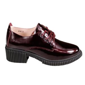 Pantofi dama Pass J8B21601 23-L Bordo